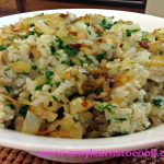 Baked Mushroom Risotto with Carelmized Onion