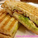Chicken Bacon and Avocado Panini
