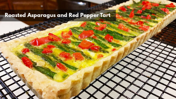 Roasted Asparagus and Red Pepper Tart