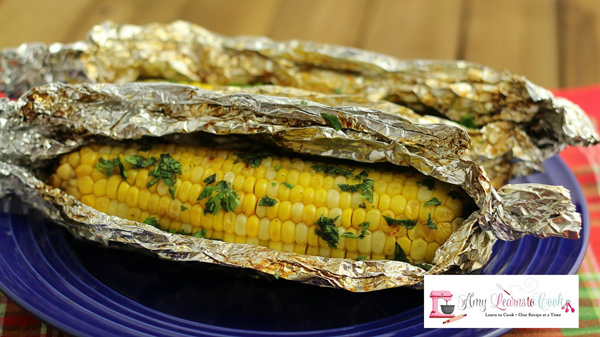 Grilled Corn on the Cob with Honey and Lime Butter