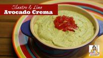 Avocado Crema with Cilantro and Lime
