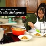 Tagliatelle alla Blolognese Pasta with Meat Sauce