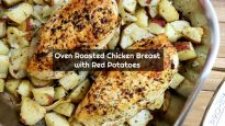 Oven Roasted Chicken Breast with Red Potatoes and Onions