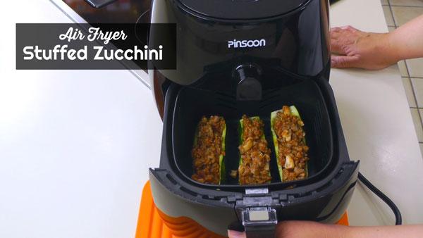 Air Fryer Stuffed Zucchini