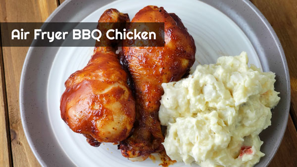 Air Fryer BBQ Chicken Legs