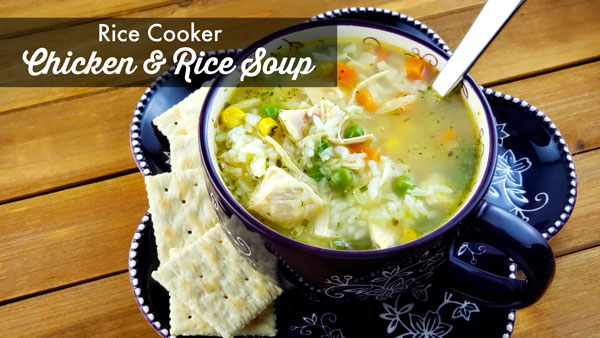 Rice Cooker Chicken and Rice Soup