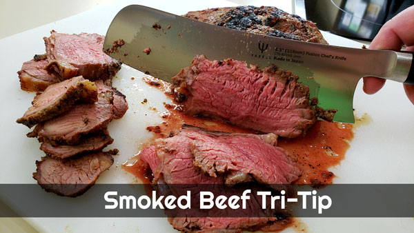 Smoked Beef Tri-Tip on the WSM Weber Smokey Mountain Smoker