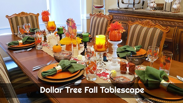 Dollar Tree Fall Tablescape