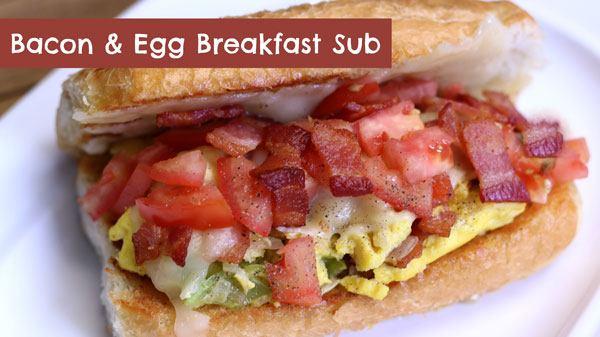 Best Scrambled Egg and Bacon Breakfast Sandwich