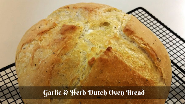 Garlic and Herb Dutch Oven Bread