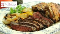 Grilled Tequila Lime Ribeye Steak and Chicken