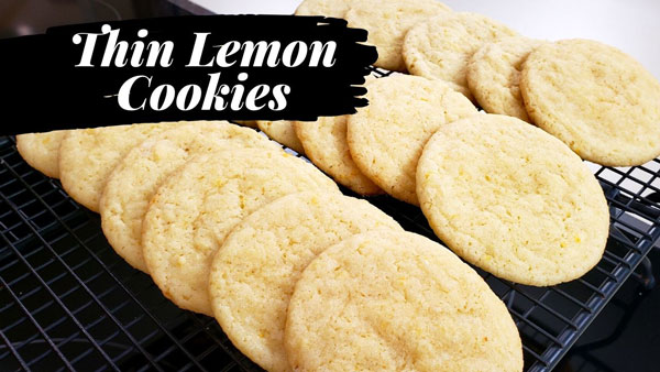Thin Lemon Cookies