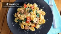 Orecchiette with Sausage and Spinach