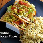 Quarantine Crispy Chicken Tacos