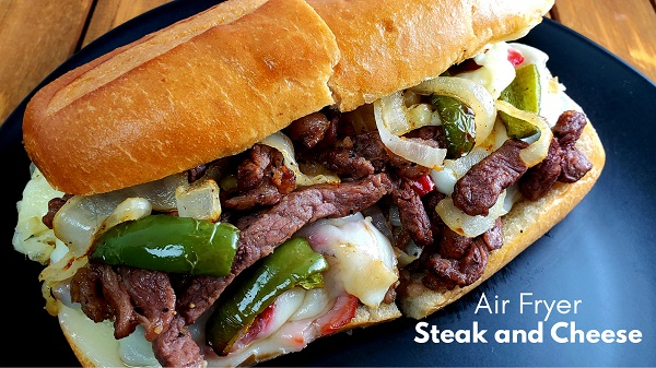 Air Fryer Steak and Cheese Sandwich