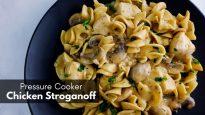 Pressure Cooker Chicken Stroganoff