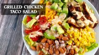 Grilled Chicken Taco Salad with Creamy Chipotle Salad Dressing